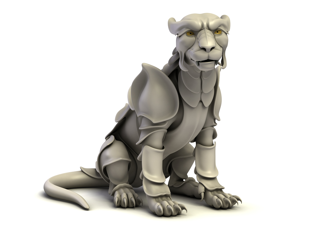 3D model of the tiger in armor