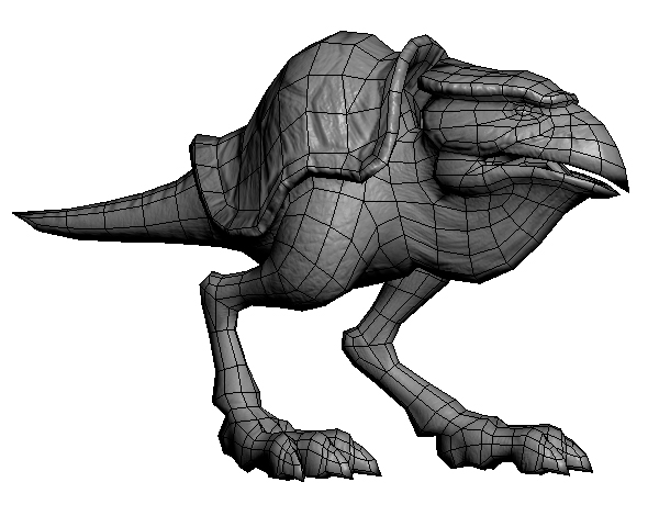 The topology of 3D models is a fantastic animal. Hybrid birds and turtles