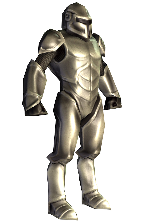 3D low poly model of sci-Fi character infantryman armor in steel