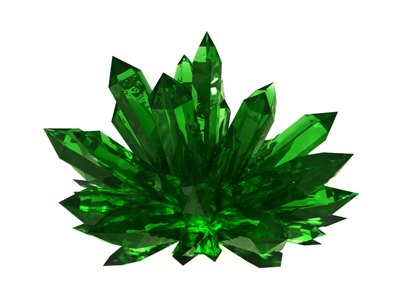 3D model. Gems. Emerald. Jewel
