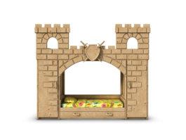 3D model of children's sports complex. Medieval castle