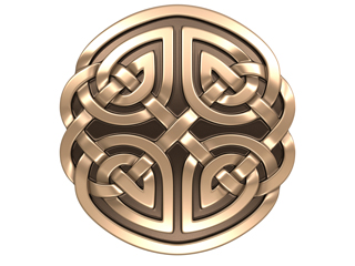 3D model. Celtic ornament